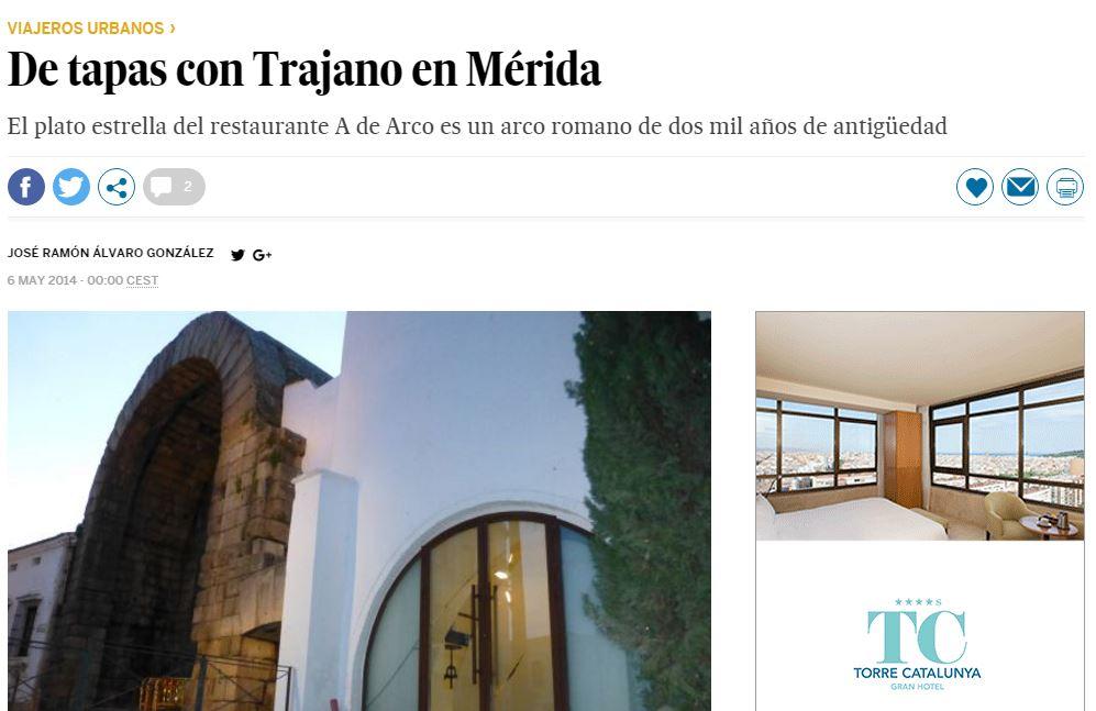 De tapas con Trajano en Mérida
